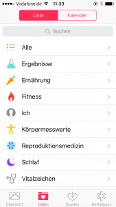 Screenshot iPhone-Apps: Health