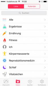 Screenshot iPhone-Apps: Health