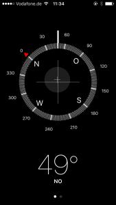 iPhone App Kompass