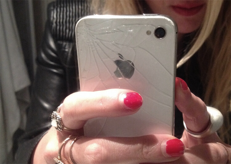 Gesplittertes iPhone Backcover