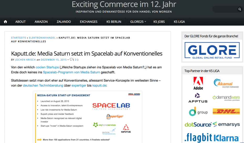 Exciting Commerce im 12. Jahr Bericht