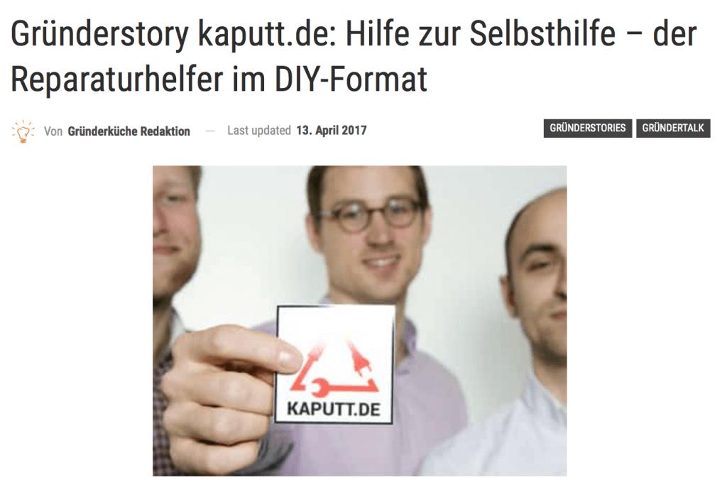Gründerstory kaputt.de