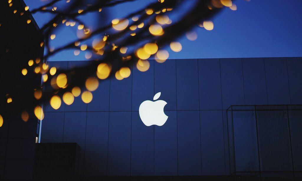 Beleuchtetes Apple Logo