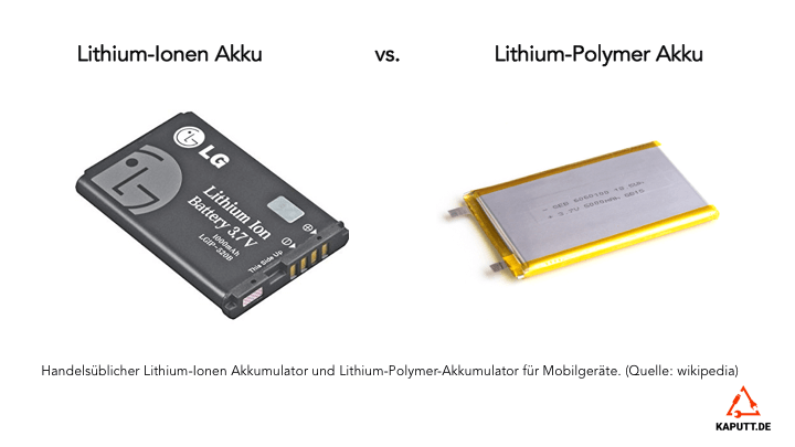 Lithium-Ionen Akku vs. Lithium-Polymer Akku