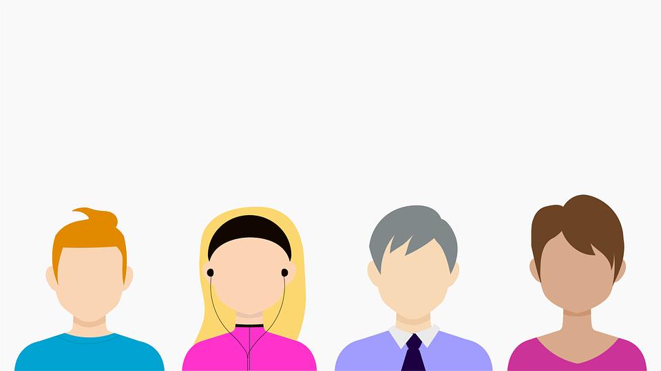 Auf dem Bild sind verschiedene Charaktere der Generation Y zu erkennen.