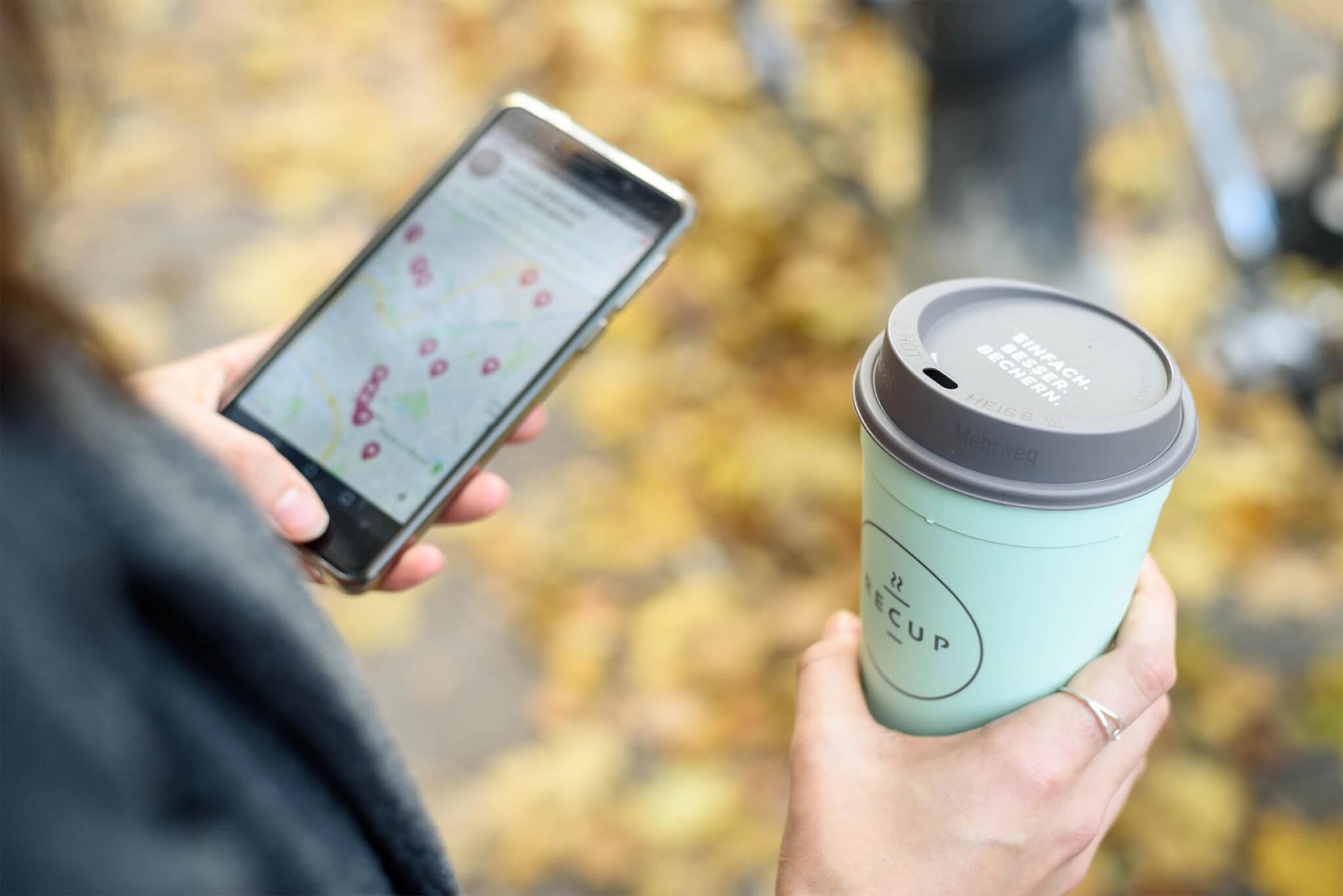 RECUP App auf dem Smartphone (©RECUP)