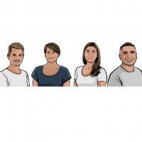 Waldi, Tina, Angelina und Dimi von Boopan